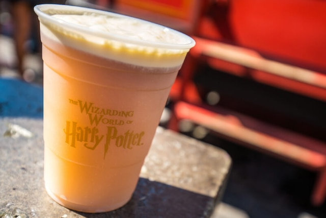 A frosty cup of Butterbeer™, offered in The Wizarding World of Harry Potter™