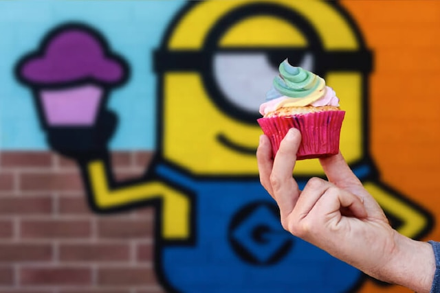 Unicorn Cupcake, offered at the all-new Minion Cafe.