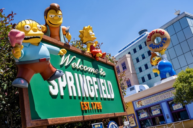 Welcome to Spingfield, entrance to Springfield, U.S.A.