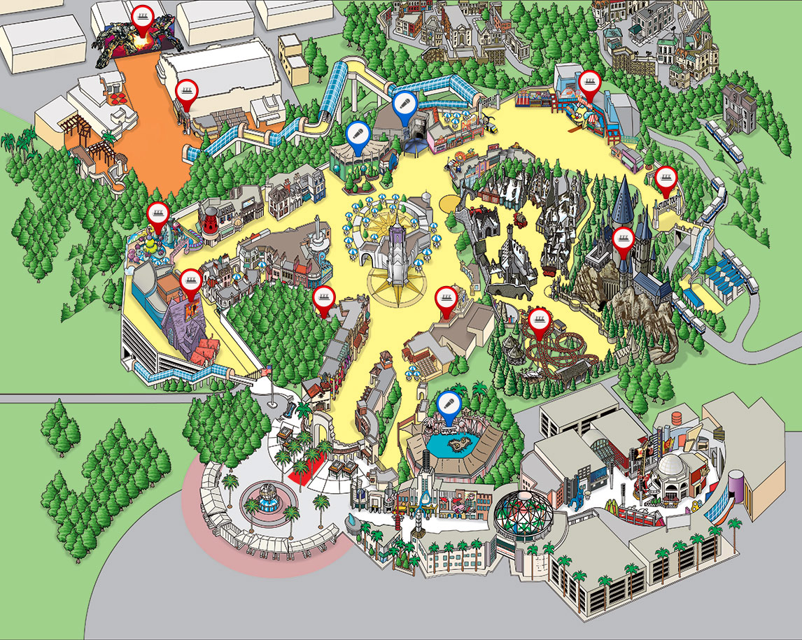 Give Kids The World Map.Park Map Universal Studios Hollywood